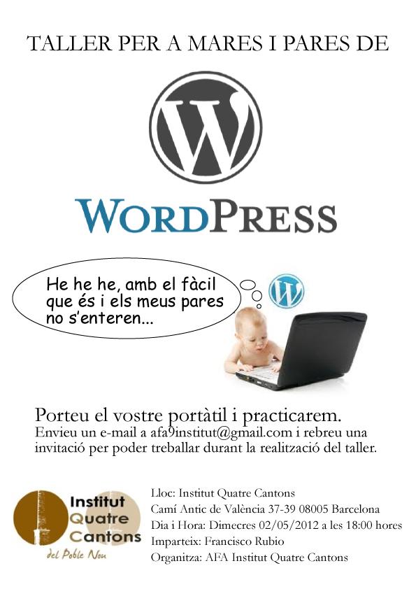 Taller de WordPress a l'institut
