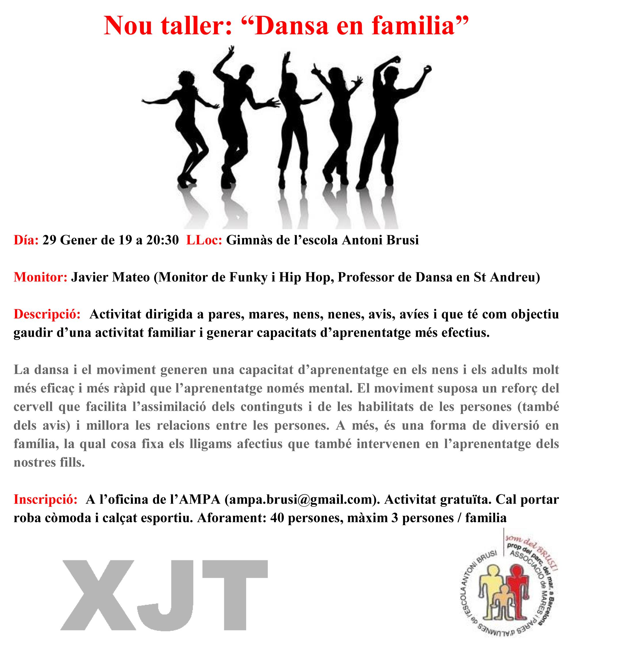 "Nou taller: ""Dansa en família"""