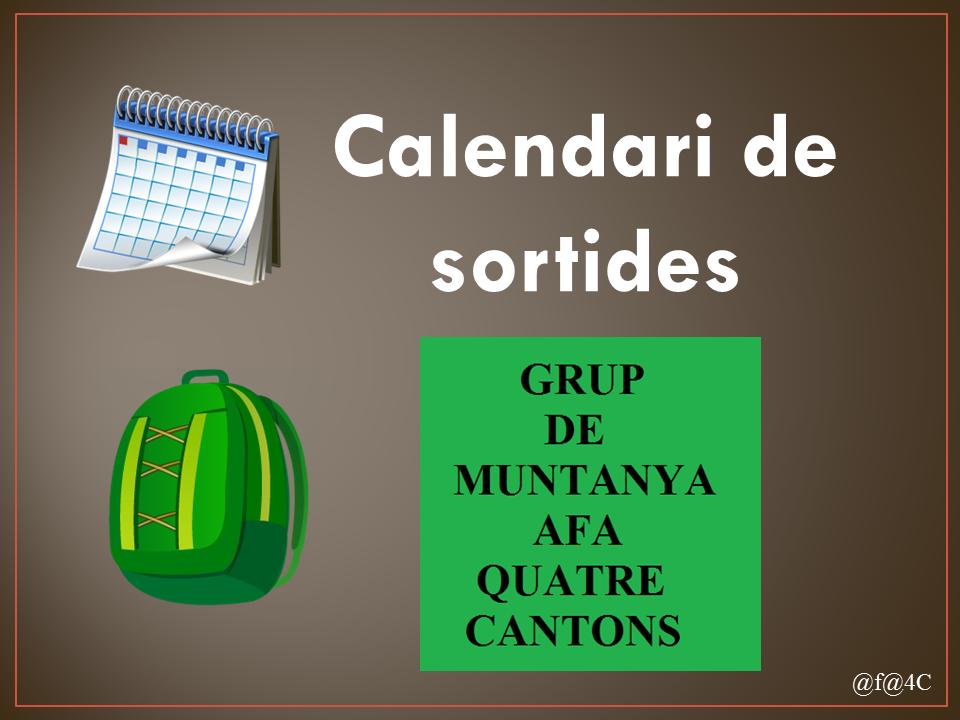 Calendari Grup de Muntanya
