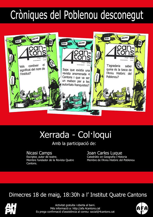 Xerrada-Col·loqui CRÒNIQUES DEL POBLENOU DESCONEGUT