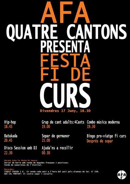 Programa Festa Fi de Curs 2016.Divendres 17 de juny.