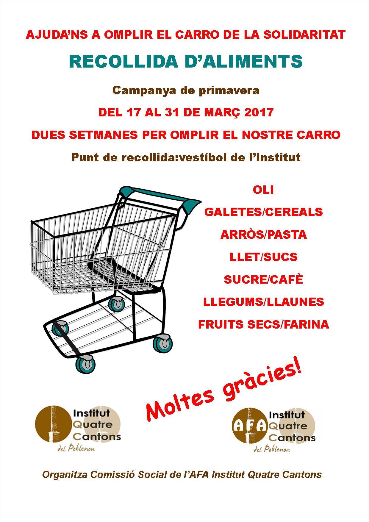 Campanya de primavera de recollida d'aliments