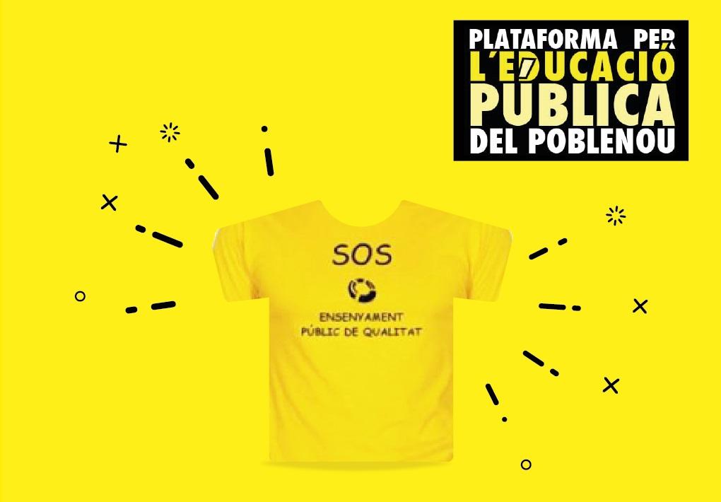 Samarretes de SOS Educació.Si en voleu una, afanyeu-vos!