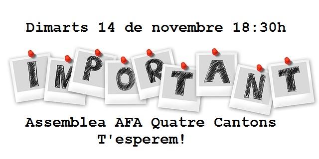 Crida a participar en l'assemblea del 14 de novembre.