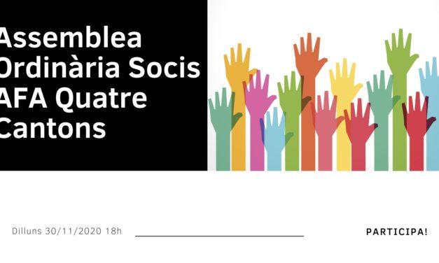 Convocatòria Assemblea General Socis AFA: dilluns 30 novembre 2020 18h