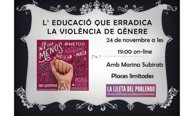 Comissió feminista informa: Marina Subirats 24N