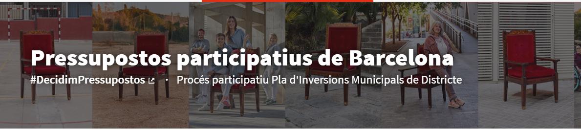 Voteu el nostre projecte als Pressupostos participatius!